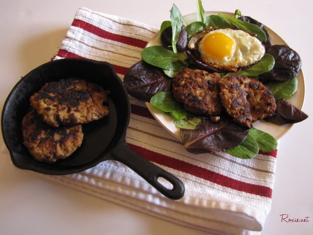 Chicken and Apple Sausage, Paleo, AIP, Clean Eating, Gluten Free, Grain Free - Roxie.net