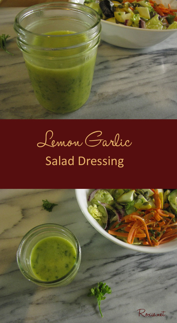 Lemon Garlic Salad Dressing is a citrusy, garlicky with a hint of sweet, homemade salad dressing, free of artificial preservatives and unhealthy oils.